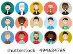 male avatar icons vector set.... | Shutterstock .eps vector #494634769