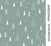 seamless christmas pattern  | Shutterstock .eps vector #494635849
