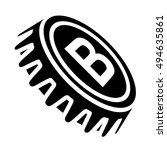 beer bottle cap black symbol...   Shutterstock .eps vector #494635861