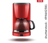 classic drip coffee maker with...   Shutterstock .eps vector #494642581