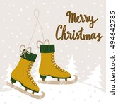 vector christmas background... | Shutterstock .eps vector #494642785