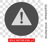 warning round icon. vector eps...