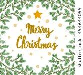 vector christmas background... | Shutterstock .eps vector #494644099