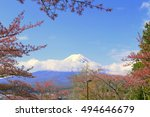 mount fuji among cherry blossoms | Shutterstock . vector #494646679