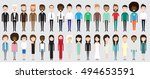 set of diverse business people... | Shutterstock .eps vector #494653591