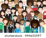 group of business people big... | Shutterstock .eps vector #494653597