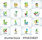 set of letter logo icons ... | Shutterstock . vector #494654869