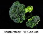 broccoli    fresh broccoli ... | Shutterstock . vector #494655385