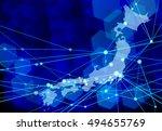 digital japan background | Shutterstock .eps vector #494655769