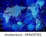 digital world background | Shutterstock .eps vector #494655781