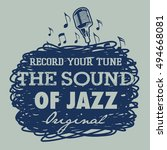 sound of jazz | Shutterstock .eps vector #494668081