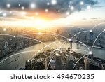 shanghai city network technology | Shutterstock . vector #494670235