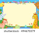background banner with animals... | Shutterstock . vector #494670379
