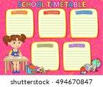 school timetable schedule image ... | Shutterstock . vector #494670847