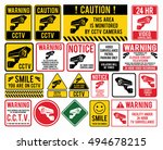 "video surveillance signs. cctv ""... 