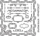 decor luxury art ornate set on... | Shutterstock .eps vector #494692627