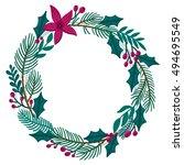 vector christmas background... | Shutterstock .eps vector #494695549