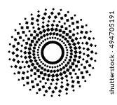 abstract circular halftone... | Shutterstock .eps vector #494705191