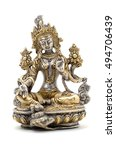 Statuette Of Green Tara On A...
