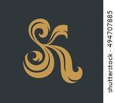 sk monogram for wedding. | Shutterstock .eps vector #494707885