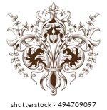 vintage decorative element... | Shutterstock .eps vector #494709097