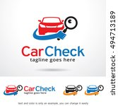 car check logo template design... | Shutterstock .eps vector #494713189