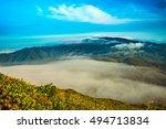 mountain landscape clouds in... | Shutterstock . vector #494713834