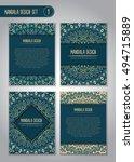 tribal mandala design set.... | Shutterstock .eps vector #494715889