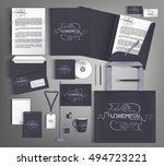 corporate identity template... | Shutterstock .eps vector #494723221