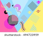 geometric elements in the... | Shutterstock .eps vector #494723959