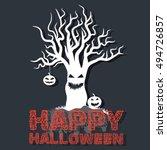 halloween time background... | Shutterstock .eps vector #494726857