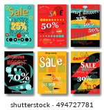 modern eye catching social... | Shutterstock .eps vector #494727781