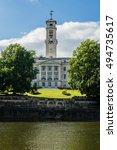 Building in Nottingham University Park. England, UK.