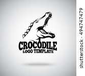 Vector Crocodile Logo Template...