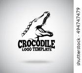 Vector Crocodile Logo Template...