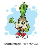 cartoon onion. vector mascot.
