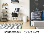 light flat in a new style with... | Shutterstock . vector #494756695