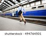 Businessman Running To Catch...