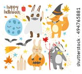 vector set. autumn holiday... | Shutterstock .eps vector #494765881