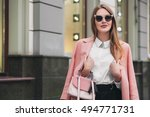 young stylish beautiful woman... | Shutterstock . vector #494771731