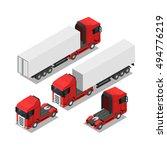 isometric truck | Shutterstock .eps vector #494776219