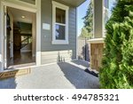 entrance porch of american gray ... | Shutterstock . vector #494785321