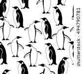 Penguin Seamless Pattern....