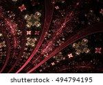 abstract fractal exquisite ... | Shutterstock . vector #494794195