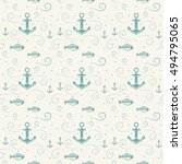 vector seamless pattern with... | Shutterstock .eps vector #494795065