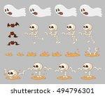 ghost enemies game sprites.... | Shutterstock .eps vector #494796301