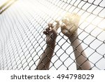 dramatic blurry hands catching... | Shutterstock . vector #494798029