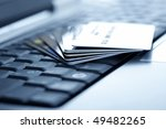 credit cards and laptop.... | Shutterstock . vector #49482265