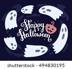 vector halloween illustration... | Shutterstock .eps vector #494830195