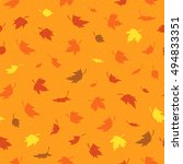 vector seamless pattern with... | Shutterstock .eps vector #494833351